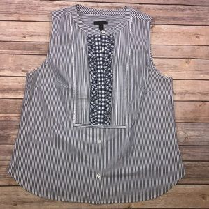 Jcrew striped tank top with ruffle. Size 12
